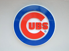 "Life-sized Chicago Cubs logo • <a style=""font-size:0.8em;"" href=""http://www.flickr.com/photos/34843984@N07/15547036465/"" target=""_blank"">View on Flickr</a>"