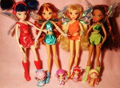 Pixie Magic Dolls - Mattel (Bloom) Tags: stella doll magic pixie bloom tune layla musa amore mattel piff lockette winxclub
