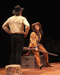 Edward Watts and Beth Malone in Annie Get Your Gun at Music Circus August 9-14. Photo by Charr Crail.