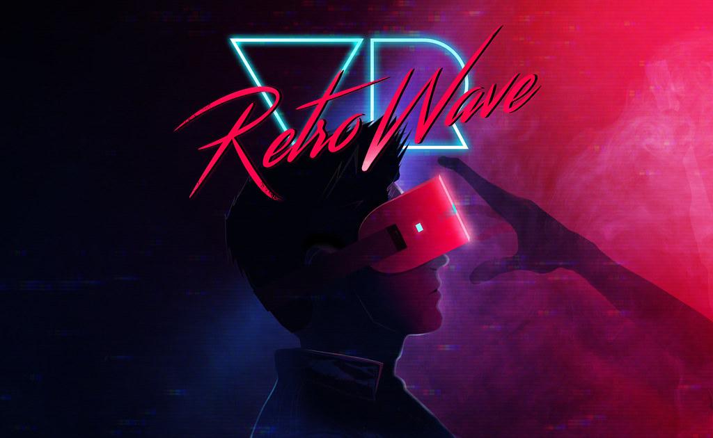 RetrowaveVR Poster Retrowavevr Tags Vr Virtual Reality Technology Trending Retro Wallpaper Background