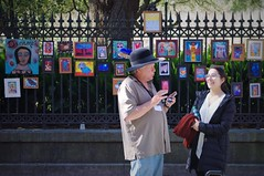 Dreamer (michael.veltman) Tags: nola new orleans square jackson art artist woman man