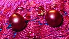 "Cloth/Textile - MACRO MONDAYS (Yasmine Hens +4 500 000 thx❀) Tags: ""clothtextile"" macromondays macro pink cloth texture drop hensyasmine hmm"