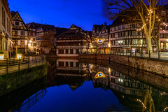 Reflecting on the Past... (kanaristm) Tags: maisondestanneurs strasbourg france europe reflection blue hour water antique