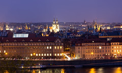 View from Letenský profil, Prague (kalakeli) Tags: prag praha prague march märz 2017 moldau vltava nightshots nachtaufnahmen blauestunde bluehour longexposure langzeitbelichtung wasser water