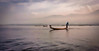 Early morning fishermen.....they will stay out here all day fishing (Neville Wootton Photography) Tags: boats burma fishermen holidays inlelake lakescapes lightroom longboats myanmar onestoptraveltours topazlabs