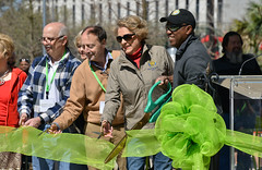 Houston Mayor Sylvester Turner cutting ribbon at Levy Park grand re-opening (dr_marvel) Tags: celebration sylvesterturner sylvester turner mayor majorturner houston texas levy levypark park upperkirby reopening grandreopening
