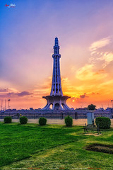 Minar - e - Pakistan (AQAS.Clicks) Tags: lahore pakistan architecture building history art walledlahore nobel old structure historical monuments aqas minarepakistan sunset greater iqbal park