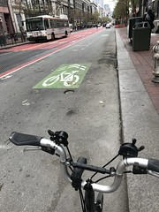 Brommie rambling in SF (Be Steel) Tags: brompton foldingbike sanfrancisco m6l bikelane