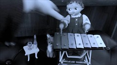 Girls just wanna have Fun! (pianocats16, miau...) Tags: dolly xylophone playing toy vintage mechanical kitty cute piano champagne music video love little pussy vocal fun doll