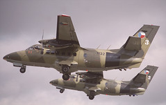 L-410 1132 & 0929, RAF Fairford (Vzlet) Tags: l410 1132 fairford riat turbolet szobikvartet szobi