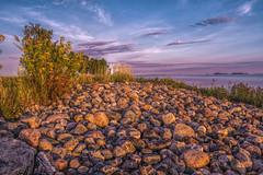 Nallikari Beach (stewartcollins2) Tags: beach finland suomi oulu nallikari stones sunrise nature sea landscape lighthouse