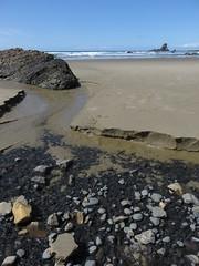 creek carving (carolyn_in_oregon) Tags: crescentbeach cannonbeach pacificocean ecolastatepark coast