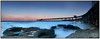 Coal Wharf at Dusk (juliewilliams11) Tags: sea beach water sky march ocean wharf jetty historic iconic history structure rocks contrast dusk longexposure panorama stitched nd8 cokin filter gnd blue coast newsouthwales lakemacquarie australia