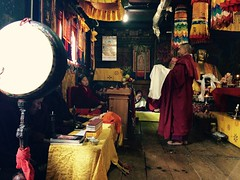 Graduation ceremony for a young monk in Thimphu, Bhutan