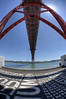 Under the Bridge (Esther Seijmonsbergen) Tags: lissabon hdr 5xp 25deabril europe citytrip bridge rivertejo estherseijmonsbergen ponte25deabril 25thofaprilbridge suspensionbridge lisboa landmark portugal