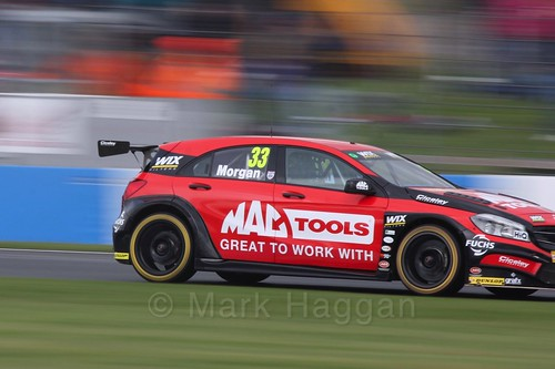 Adam Morgan in race one at the British Touring Car Championship 2017 at Donington Park