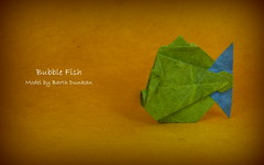 Bubble Fish by Barth Dunkan (Thomas Krapf Origami) Tags: bubble fish fisch origami barth dunkan paper papier papierfatlen paperfolding