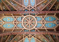 St. David's Cathedral (@AnnerleyJphotos) Tags: blue britain brown cathedral crest cymru david gb gold ornate painted pembrokeshire roof saint sirbenfro stdavids uk wales welsh wood
