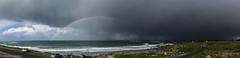 Le Gouerou (Morgan Le Quellec) Tags: gouerou arcenciel nuage gris sombre pluie averse temps printemps giboulés mars offshore vagues bretagne finistere lampaul lampaulplouarzel france nikonfrance sigma 1835mm surf bodyboard