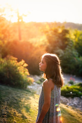 (Rebecca812) Tags: girl child nature sunset beauty trees lensflare sun rimlight profile nostalgia calm atmospheric portrait canon people