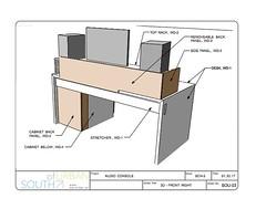 1611 Marion Audio Workstation (South of Urban) Tags: south urban southofurban modern furniture design modernfurniture moderndesign cnc cncrouter woodworking audio desk workstation console music recording