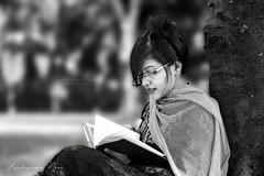 Sabrina (asaduzzaman.noor) Tags: outdoor female woman portrait photography asaduzzaman noor naturallight canon 6d f18 face dramatic dof model cinematic beauty jessore khulna bangladesh black white bw book glass