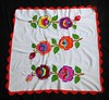 Embroidered Tablecloth Oaxaca Mexico (Teyacapan) Tags: mexican oaxacan textiles embroidered mantel tablecloth flores flowers crochet etla mixtec zapotec