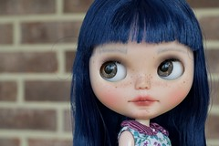 Asian Butterfly Love (Chassy Cat) Tags: asianbutterfly encore asian butterfly abe blythe chassycat customized custom doll blue hair scalp