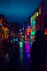 Neon Time (Luis Montemayor) Tags: japan japon tokyo neon lights neonlights night noche rain lluvia reflection reflejo shibuya