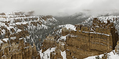 90246936923-87-Snow Covered Landscape Bryce Canyon Utah-1 (Jim There's things half in shadow and in light) Tags: 2017 america brycecanyon canon5dmarkiv march nationalpark sigma24105mmf4dg southwest us utah earth landscape natrue sky snow hazy red cloudy foggy thorshammer sunsetpoint hoodoo