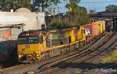Albion Aurizon (Henrys Railway Gallery) Tags: 6010 6000class 6026 6020class ge diesel ugl goninan 5mb7 mb7 aurizon intermodal containertrain freighttrain qr qrnational qrn c44aci