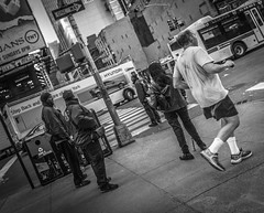 Different stories (Henka69) Tags: street streetphoto newyork newyorkstreet timessquare bw monochrome