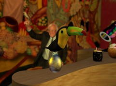 Yes, Toucan (PatchouliW) Tags: firestorm secondlife mercuryroom easter madpea toucan forthebirds easteregghunt2017 secondlife:region=cervezaisland secondlife:parcel=themercuryroomowlsretrohollywoodjazzloungehootery secondlife:x=73 secondlife:y=215 secondlife:z=656