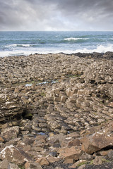 "The Giant's Causeway ""steps"" of hexagonal basalt rock (Cat Girl 007) Tags: verticalview closeup rocks basalt giantscauseway antrim northernireland coast coastline day europe formation geological geology heritage lava landmark sea scape unesco outdoors nature"