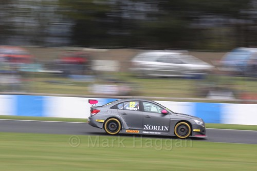 Chris Smiley in race one at the British Touring Car Championship 2017 at Donington Park