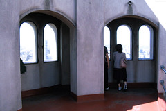 "People looking out Coit Tower windows • <a style=""font-size:0.8em;"" href=""http://www.flickr.com/photos/34843984@N07/14926196773/"" target=""_blank"">View on Flickr</a>"