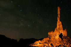 Light Painting Totem Pole Rock (fenicephoto) Tags: arizona totempole navajo monumentvalley navajonationalmonument totempolerock
