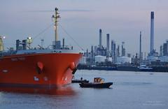 Boatmen (Peet de Rouw) Tags: ship refinery boatmen krve botlek eendracht portofrotterdam vlet raffinaderij petroleumhaven roeiers denachtdienst peetderouw
