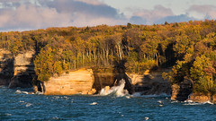 March of the Trees (The Charliecam) Tags: autumn golden waves michigan fallcolors michiganfavorites hour upperpeninsula lakesuperior piro picturedrocks 70200mmf4 canon6d michigansupperpeninsula