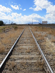 Where the Standard Gauge Met the Narrow Gauge (Patricia Henschen) Tags: railroad yard sanluisvalley depot railyard railroadstation drg drgw standardgauge conejoscounty denverriograndewestern antonitocolorado