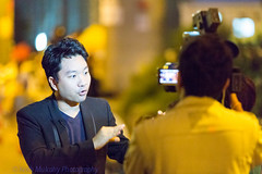 Occupy Central in Hong Kong - Reporting to the world (Keith Mulcahy) Tags: hongkong journalism journalist tvr umbrellarevolution occupycentral keithmulcahy october2014 blackcygnusphotography ppa7a0 ppd56c