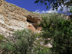 Montezuma Castle National Monument; Camp Verde, Arizona (xscabboyx) Tags: arizona castle monument clouds ruins indian sedona roadtrip nativeamerican national hopi montezumas campverde sinagua beaverriver