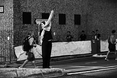fighting for freedom (aggiechoy) Tags: hongkong streetphoto blacknwhite nightstreet