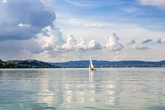 Lake Balaton 2014 - 14 (Romeodesign) Tags: summer sky lake reflection beach water abbey rain clouds strand sailboat reflections hungary monastery balaton tihany 550d zamardi