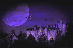 Spooky ........ (linlaw39) Tags: autumn light moon castle halloween night photoshop fun scotland wolf purple edited spooky witches vulture raven errie lindal dundeeholiday