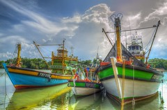 @ Tok Bali river port (abiommacro2) Tags: clouds port river landscape boats nikon kelantan tokbali abiom