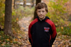 Fall look (reviriabinski) Tags: autumn boy orange fall hockey 50mm nikon naturallight youngboy bokah 50mm18g