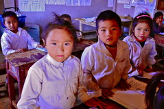 North Laos-Hmong village school (venturidonatella) Tags: school people students portraits children nikon faces villages laos hmong volti minorities