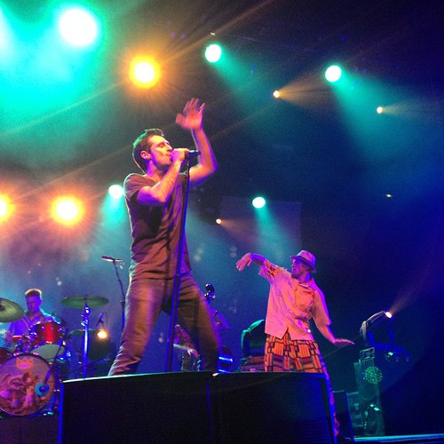 Felix and Lenny (one half of our dancing duo) in full flight. Festival hall Melbourne! #andietheroadie #goodtimes