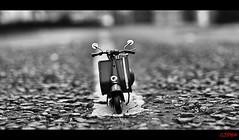 Beep beep ! (CJS*64) Tags: road bw bike blackwhite nikon scooter ontheroad beepbeep cjs d3100 nikond3100 craigsunter cjs64